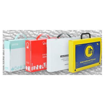 maletines de Polipropileno blanco, rojo y amarillo