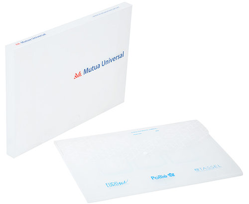 Portadocumentos polipropileno blanco