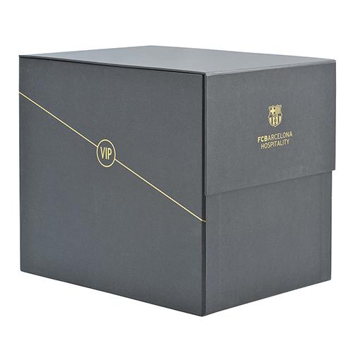 Caja carton forrado barça