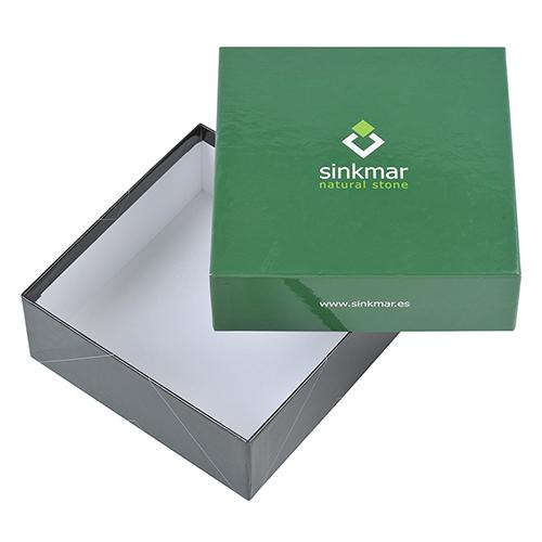 Caja carton forrado verde