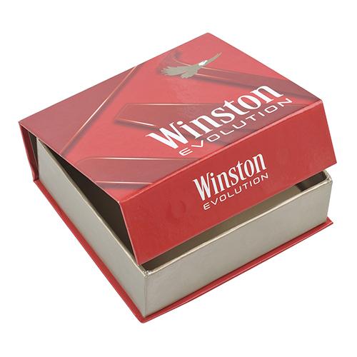 Caja carton forrado tabaco rojo