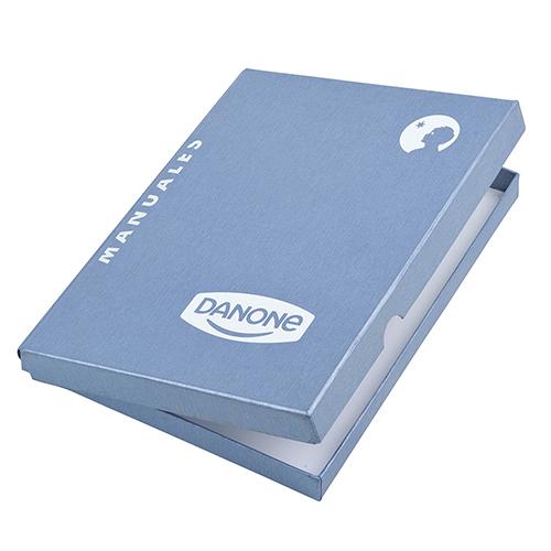 Caja carton forrado azul