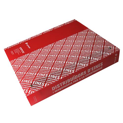Carpeta polipropileno anillas rojo cerrado