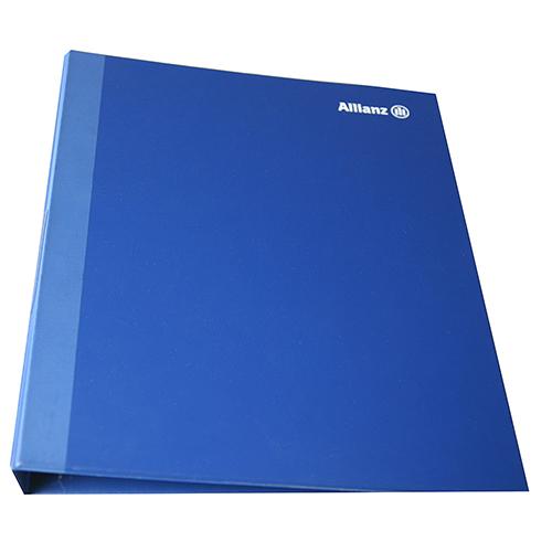Carpeta polipropileno anillas azul portada