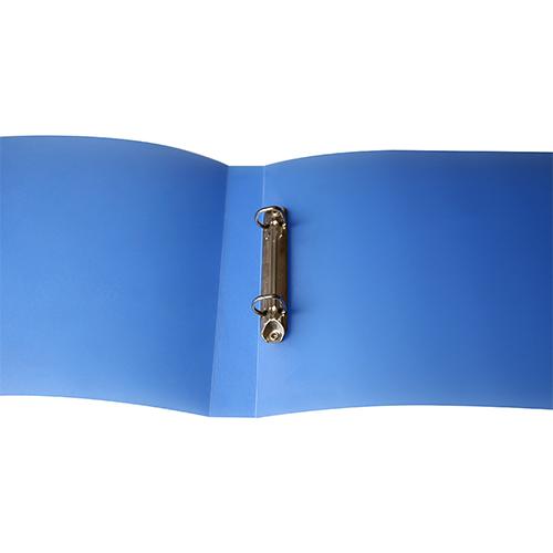 Carpeta polipropileno anillas azul abierto
