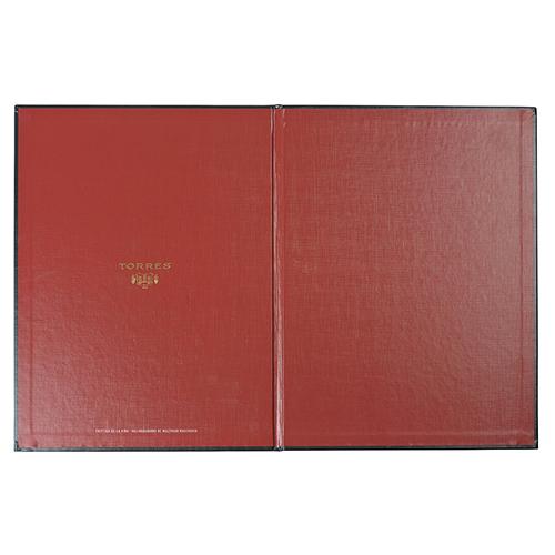 Carta vinos carton pvc rojo