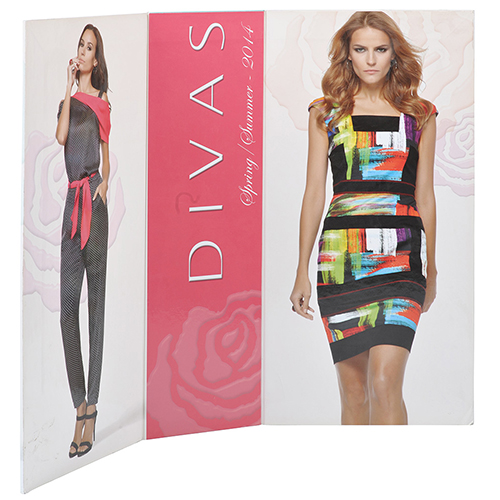 Display carton forrado diptico divas