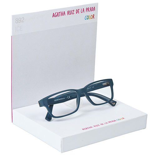 Display carton forrado gafas blancas