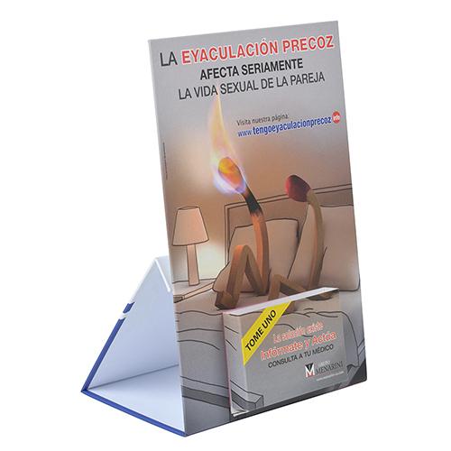 Display carton forrado peana medicamento montado