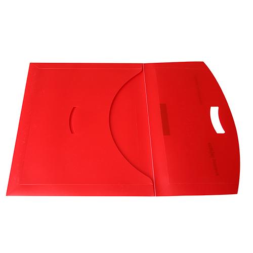 Portadocumentos polipropileno rojo obert