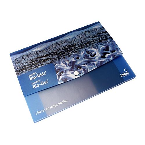 Portadocumentos polipropileno azul