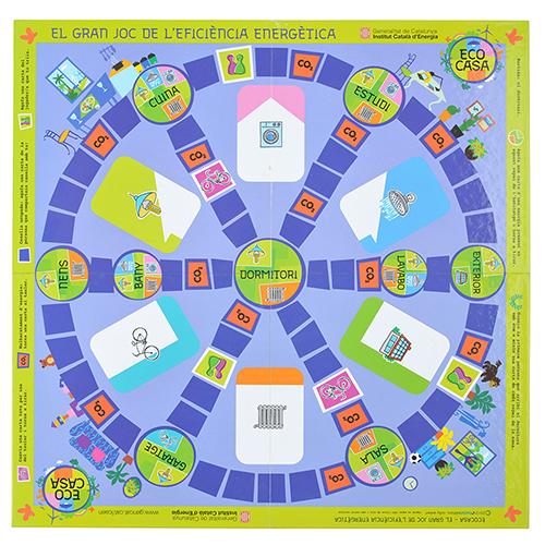 Tablero juegos carton azul entero