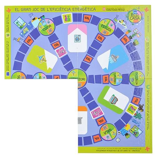 Tablero juegos carton azul tres quartos