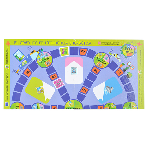 Tablero juegos carton azul un quarto