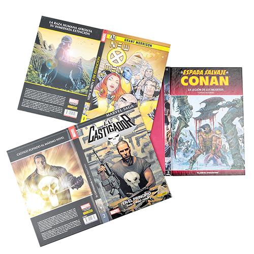 Tapa libro carton forrado comics
