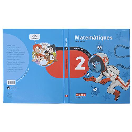 Tapa libro PVC azul matemàtiques