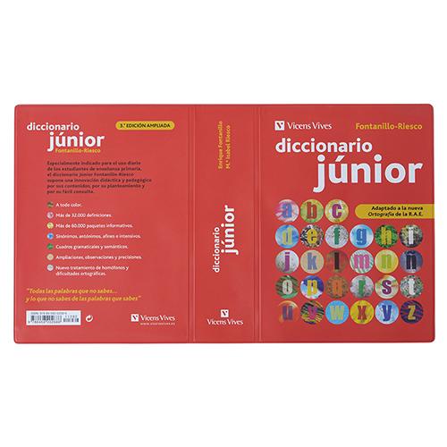 Tapa diccionario junior PVC rojo