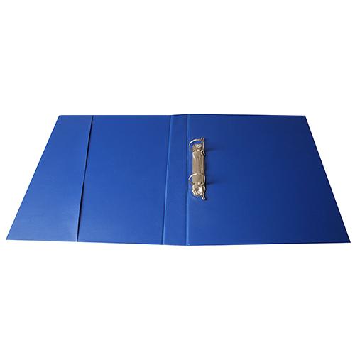 Carpeta PVC anillas azul abierta
