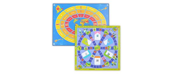 Tableros juegos infantiles carton