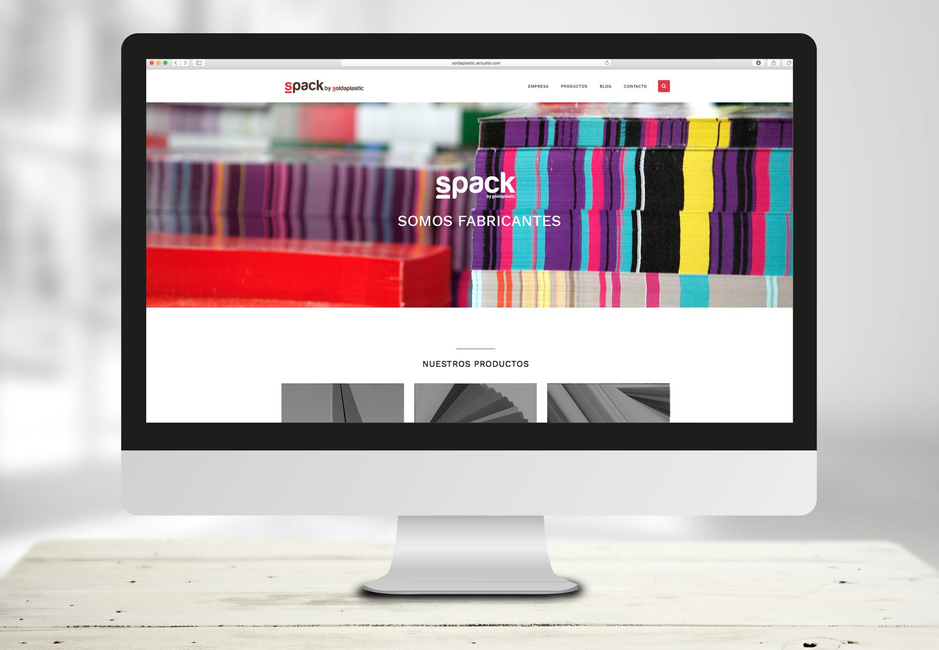 pagina web en pantalla ordenador
