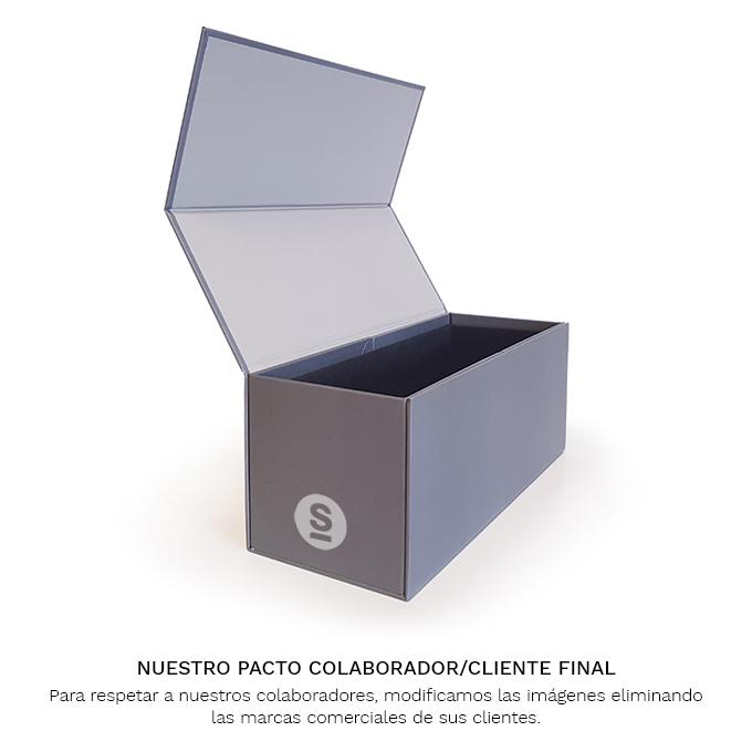 Caja de muestras carton gris