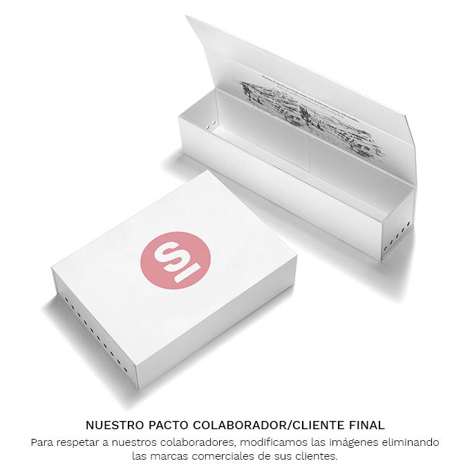 Caja muestras embutidos carton blanca