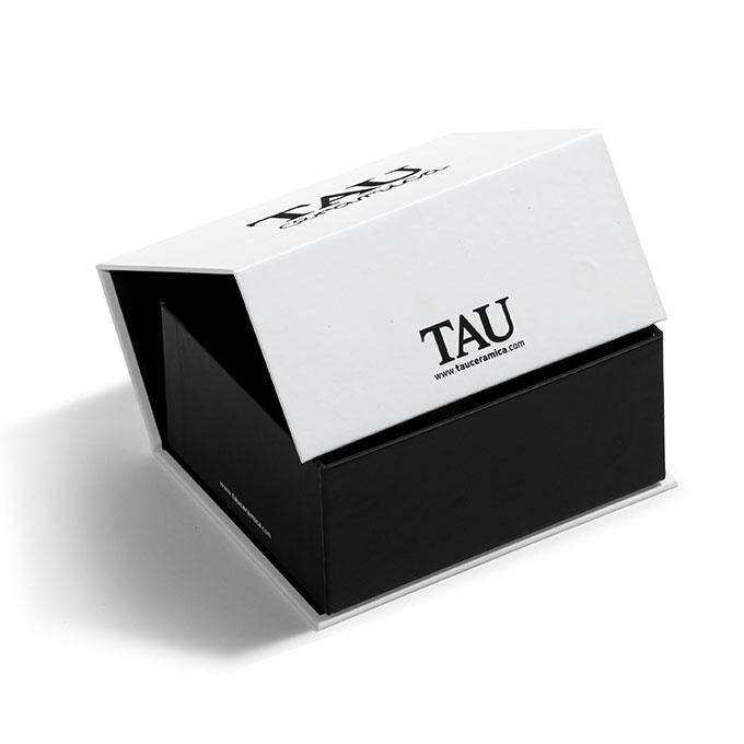 Caja para ceramica carton negra y blanca