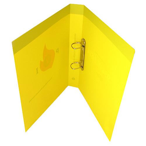 Carpeta polipropileno amarilla con anillas