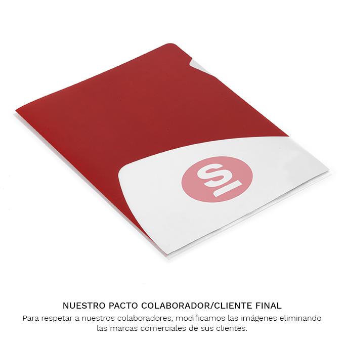 Dossier Polipropileno rojo con logo