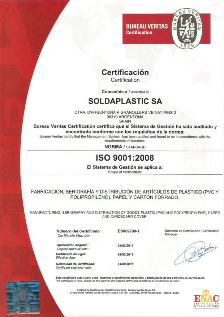 certificado soldaplastic
