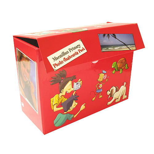 caja carton forrada con rojo con cierre de elcro